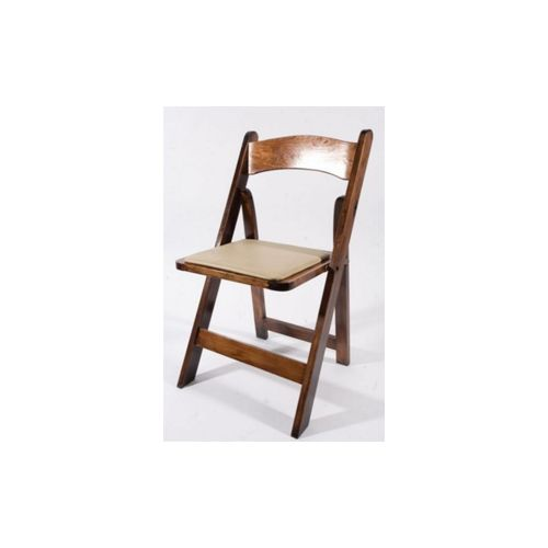 Dark Wood Garden Chair